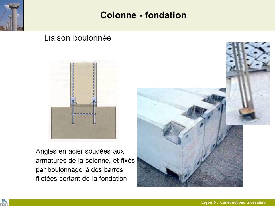 Colonne - fondation Liaison boulonnée
