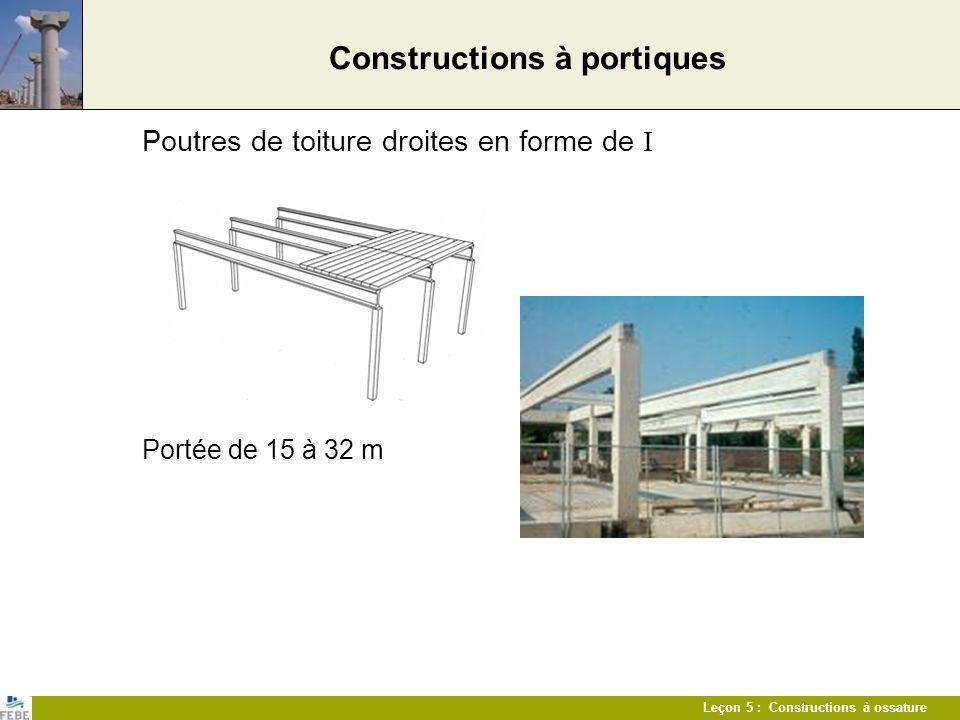 Constructions à portiques