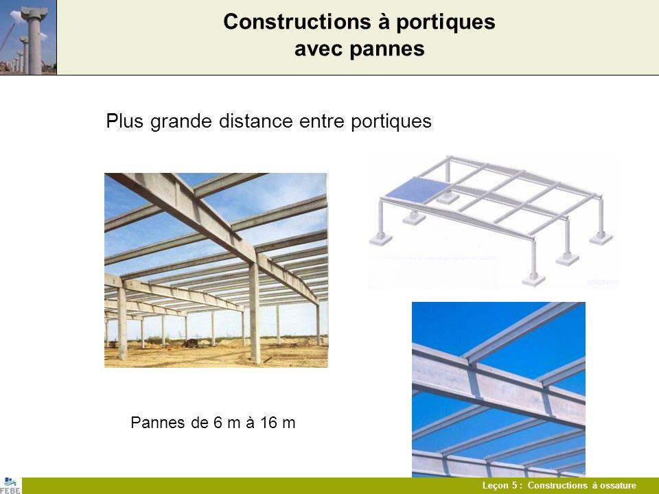 Constructions à portiques avec pannes