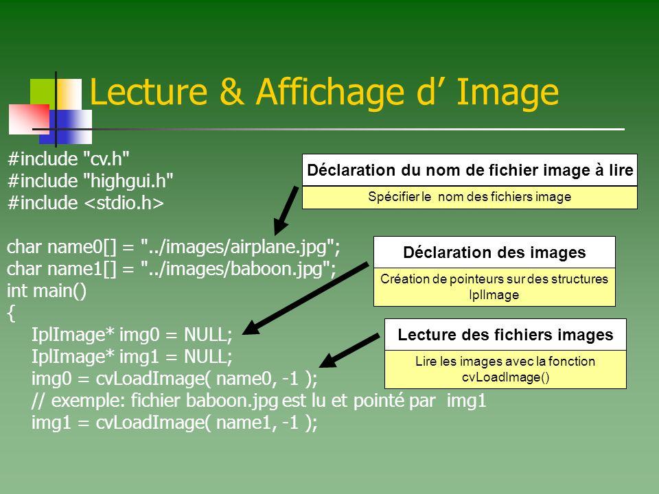 Lecture & Affichage d' Image