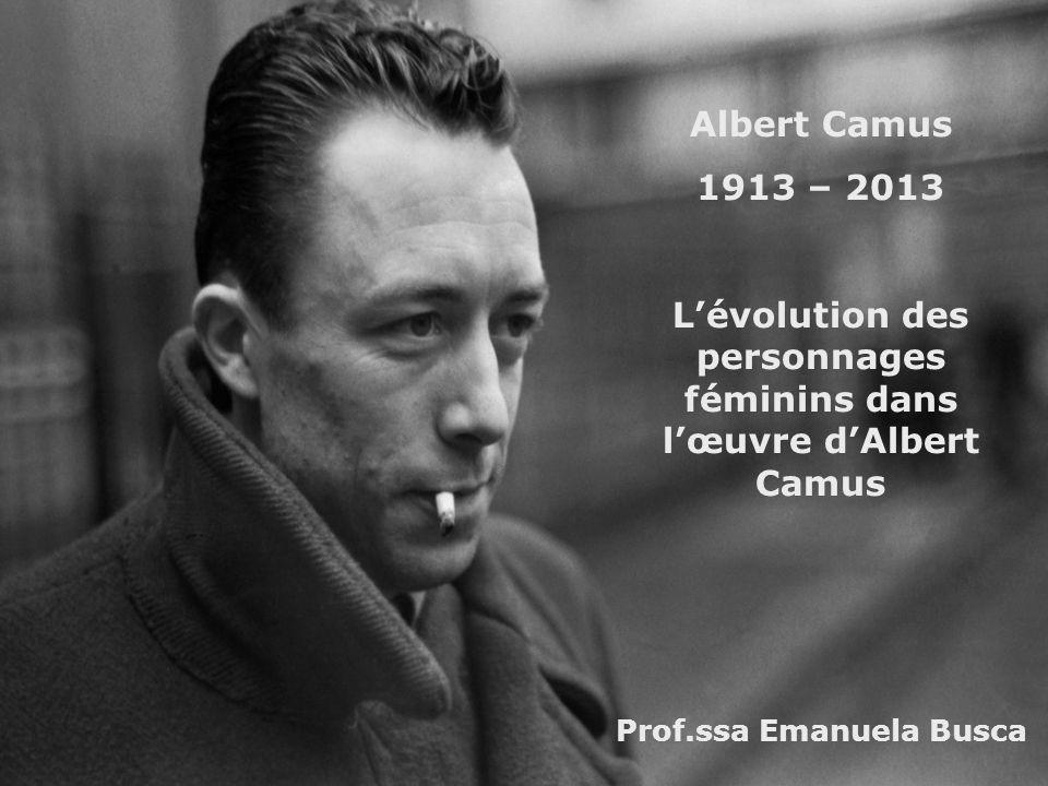 L'évolution des personnages féminins dans l'œuvre d'Albert Camus