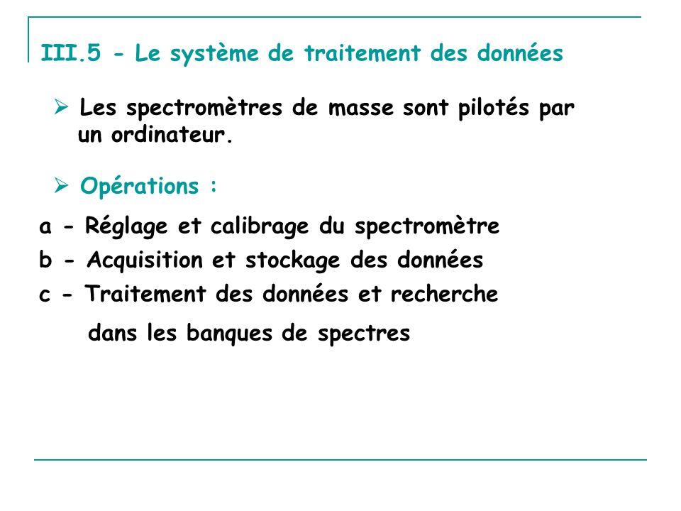 III.5 - Le système de traitement des données