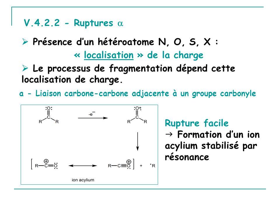  Présence d'un hétéroatome N, O, S, X : « localisation » de la charge