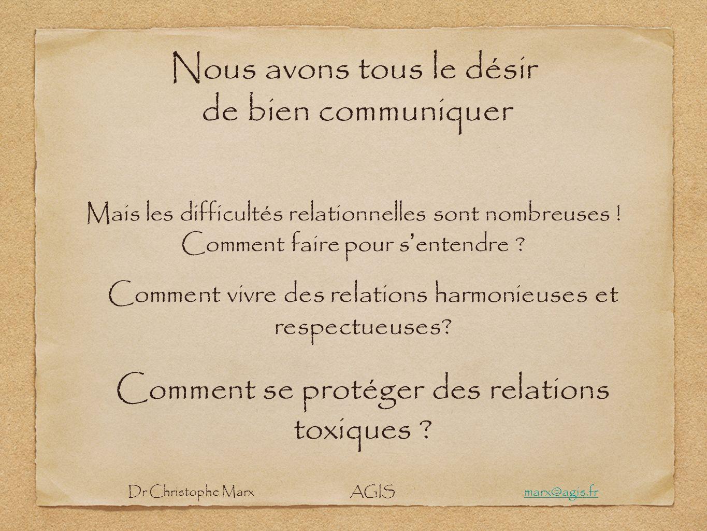 Nous avons tous le désir de bien communiquer