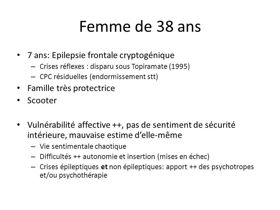 Femme de 38 ans 7 ans: Epilepsie frontale cryptogénique