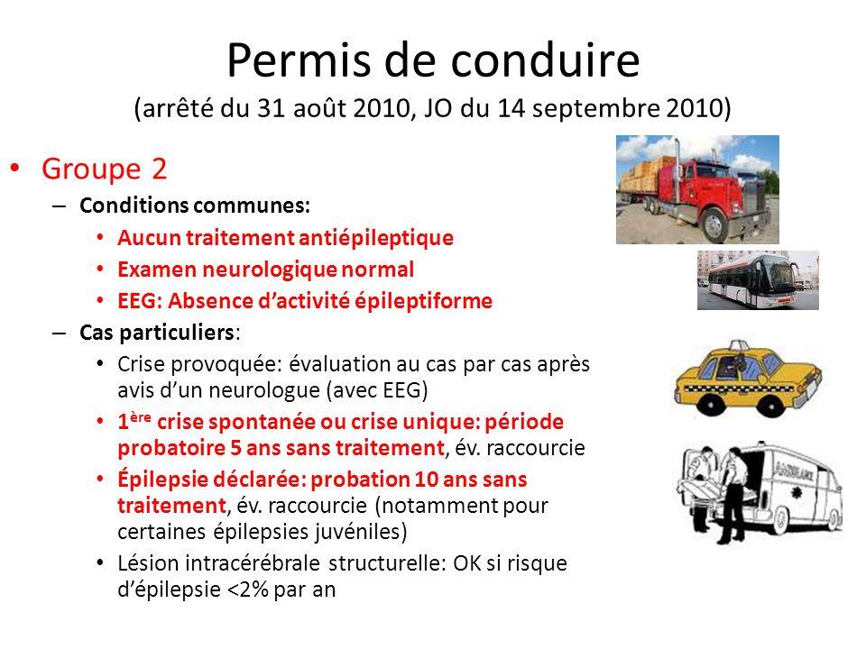 Permis de conduire (arrêté du 31 août 2010, JO du 14 septembre 2010)