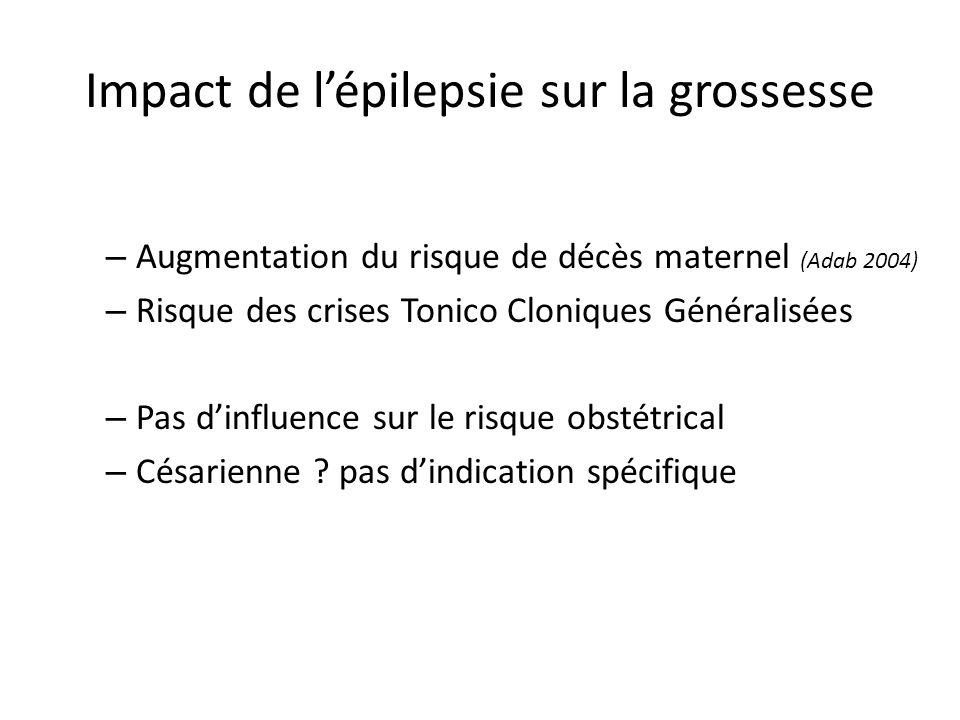 Impact de l'épilepsie sur la grossesse