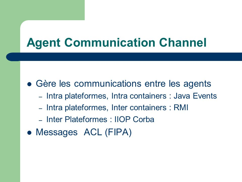 Agent Communication Channel