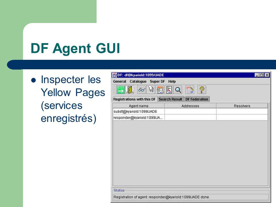 DF Agent GUI Inspecter les Yellow Pages (services enregistrés)