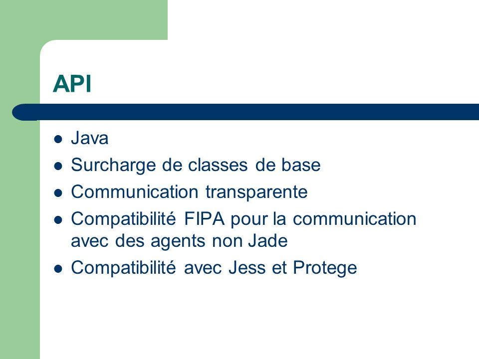 API Java Surcharge de classes de base Communication transparente