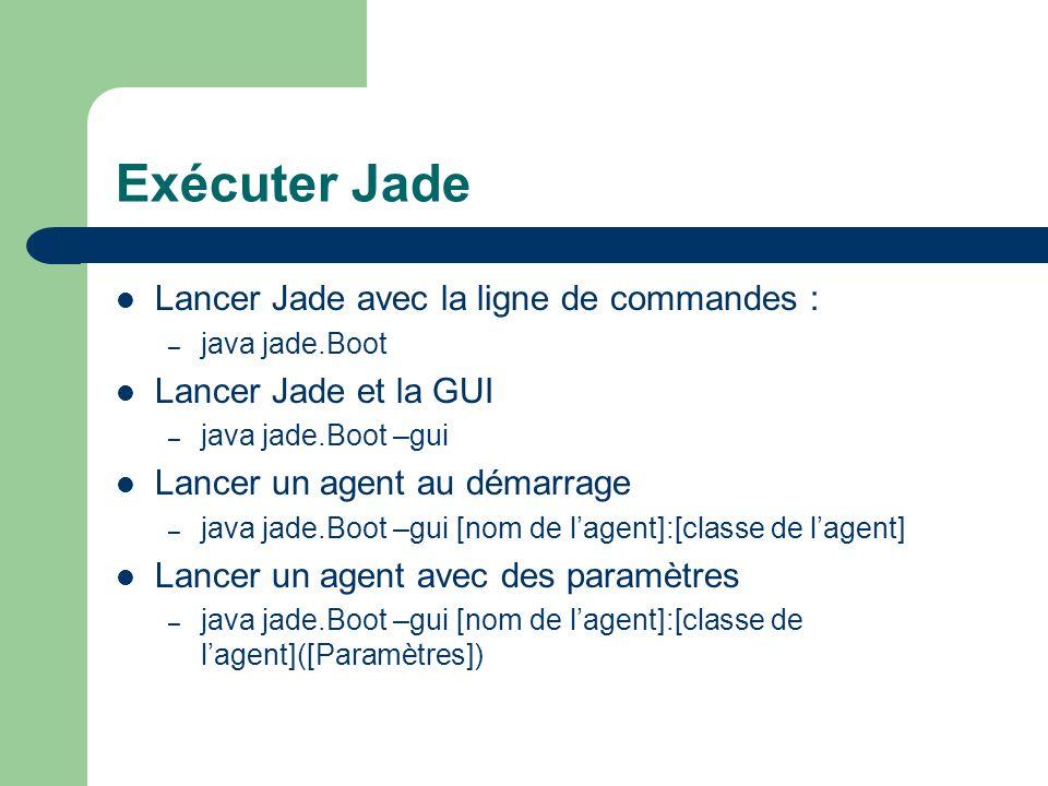 Exécuter Jade Lancer Jade avec la ligne de commandes :