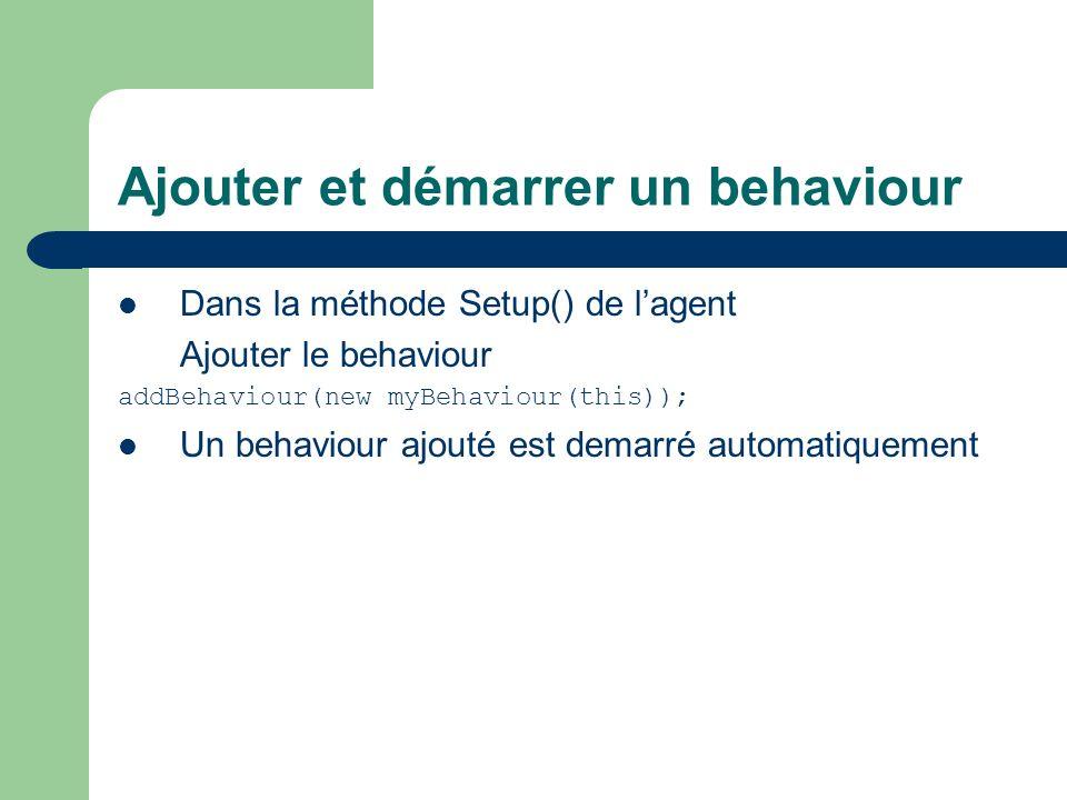 Ajouter et démarrer un behaviour