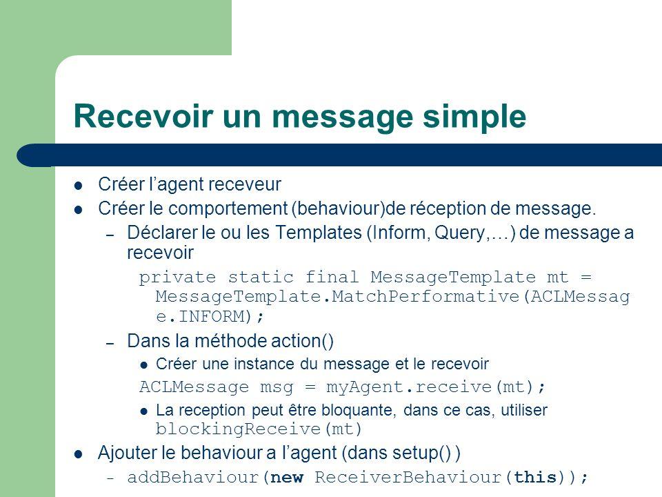Recevoir un message simple