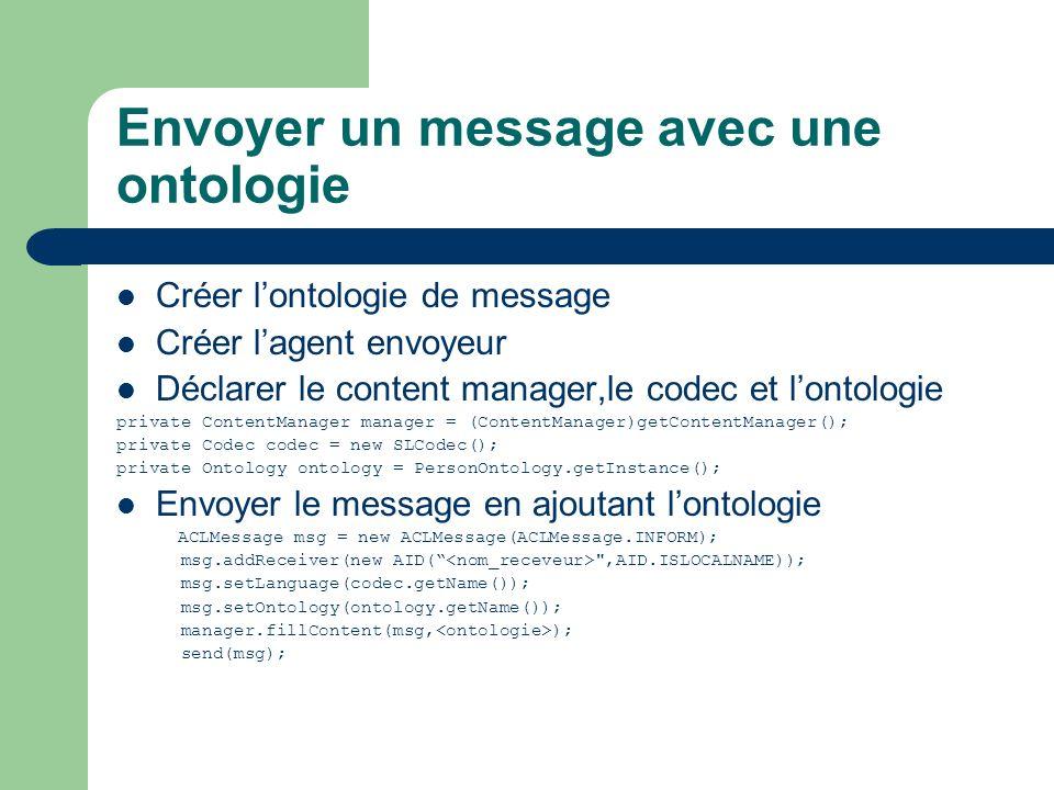 Envoyer un message avec une ontologie