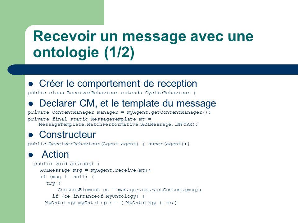 Recevoir un message avec une ontologie (1/2)