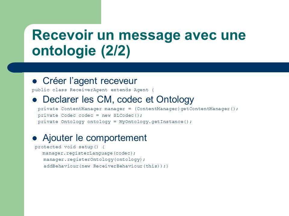 Recevoir un message avec une ontologie (2/2)