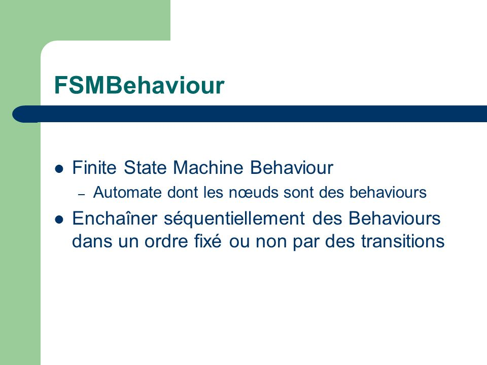 FSMBehaviour Finite State Machine Behaviour