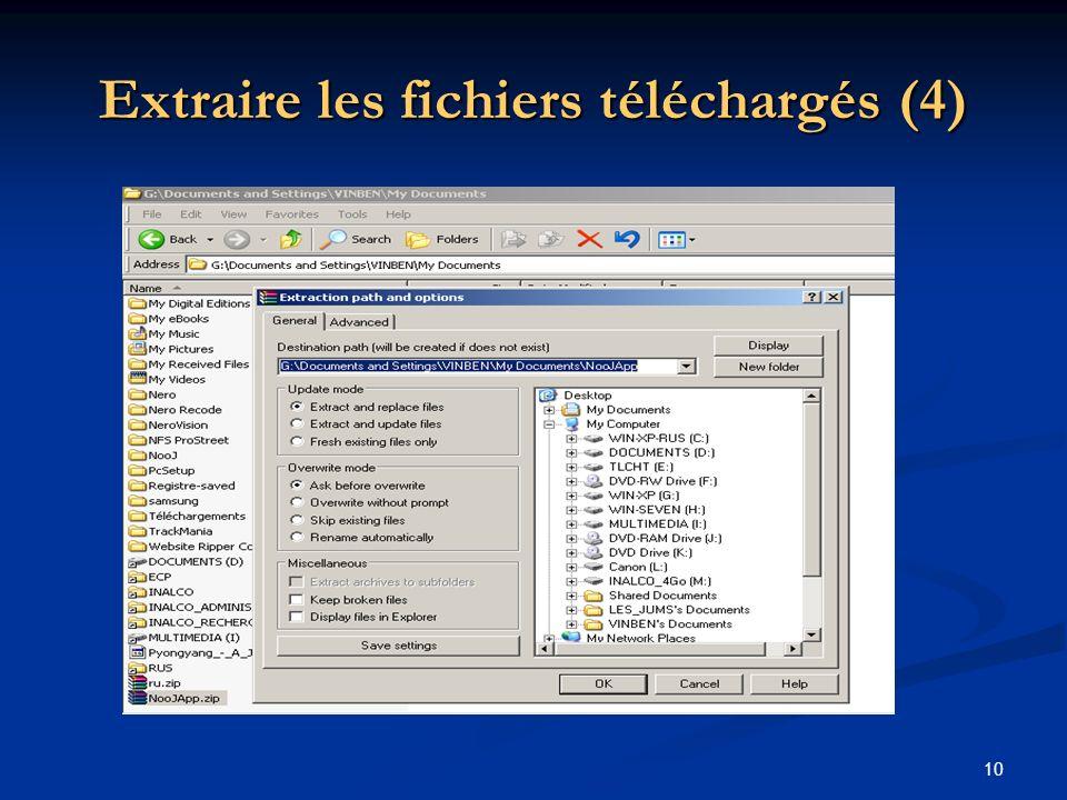 Extraire les fichiers téléchargés (4)