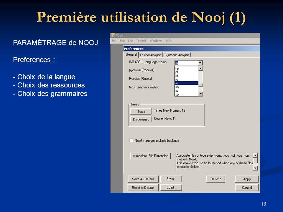 Première utilisation de Nooj (1)