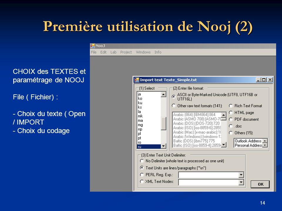 Première utilisation de Nooj (2)