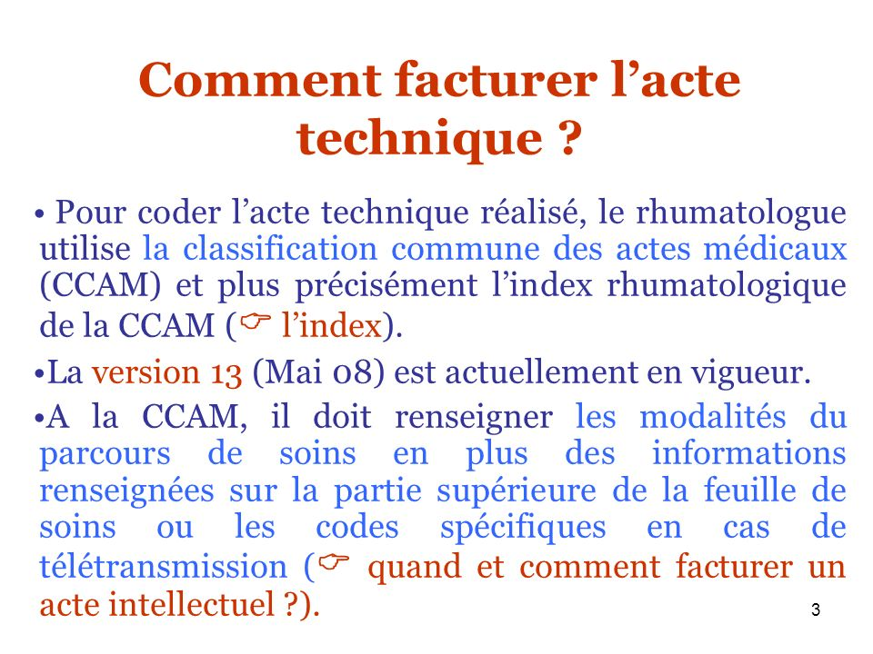 Comment facturer l'acte technique