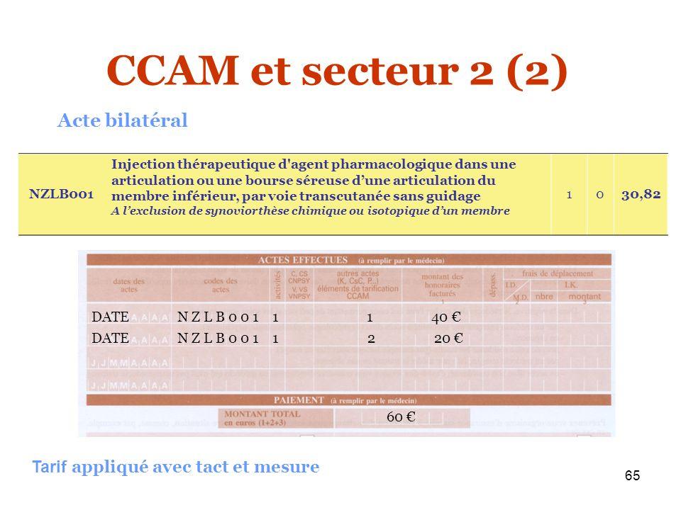 CCAM et secteur 2 (2) Acte bilatéral