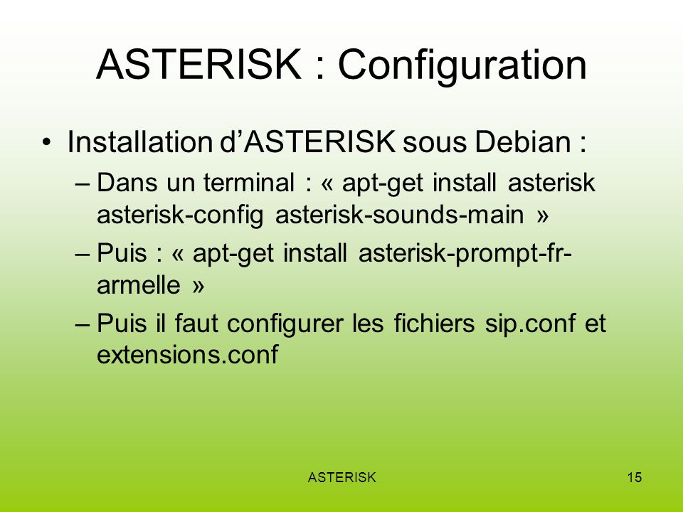 ASTERISK : Configuration