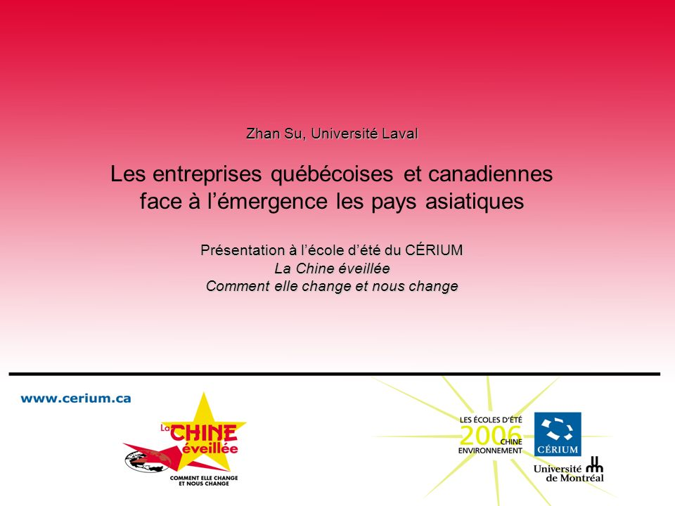 Les entreprises québécoises et canadiennes