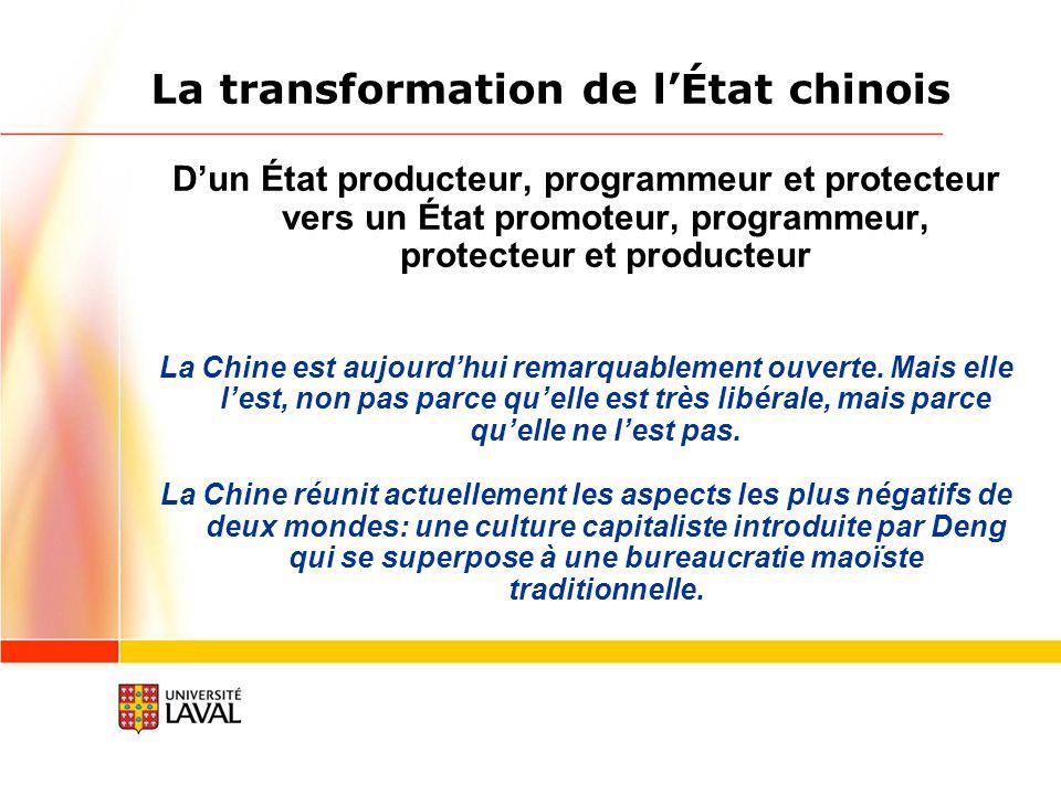 La transformation de l'État chinois