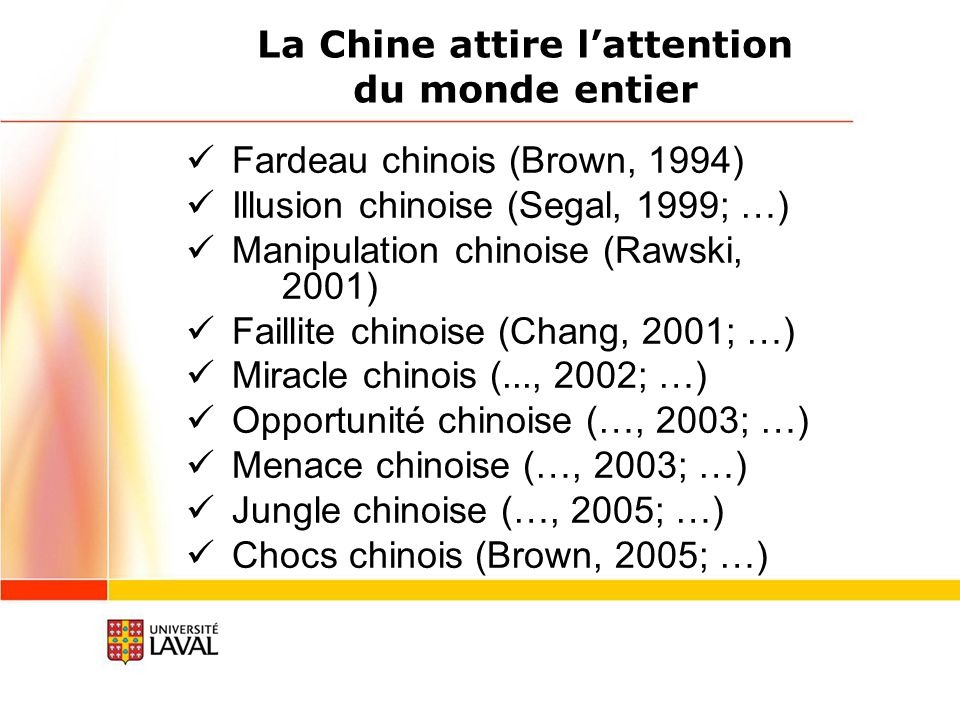 La Chine attire l'attention du monde entier