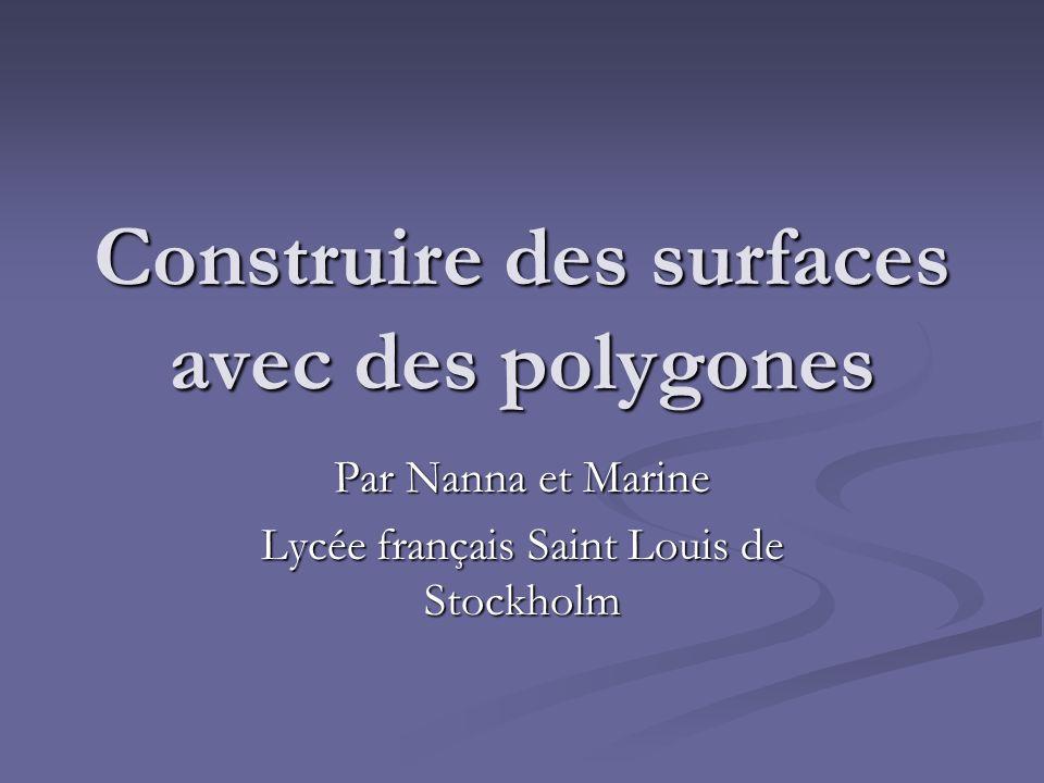 Construire des surfaces avec des polygones