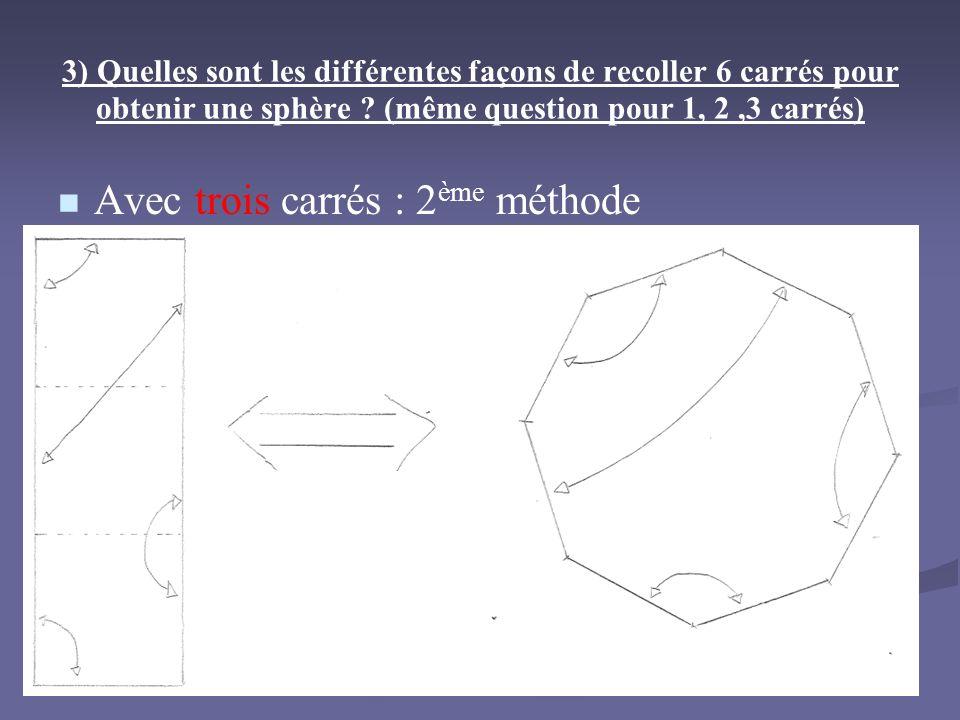 Avec trois carrés : 2ème méthode