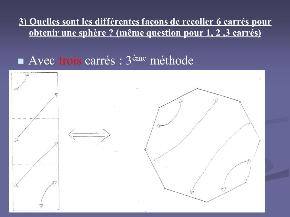Avec trois carrés : 3ème méthode