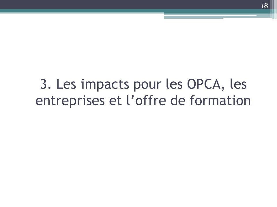 3. Les impacts pour les OPCA, les entreprises et l'offre de formation