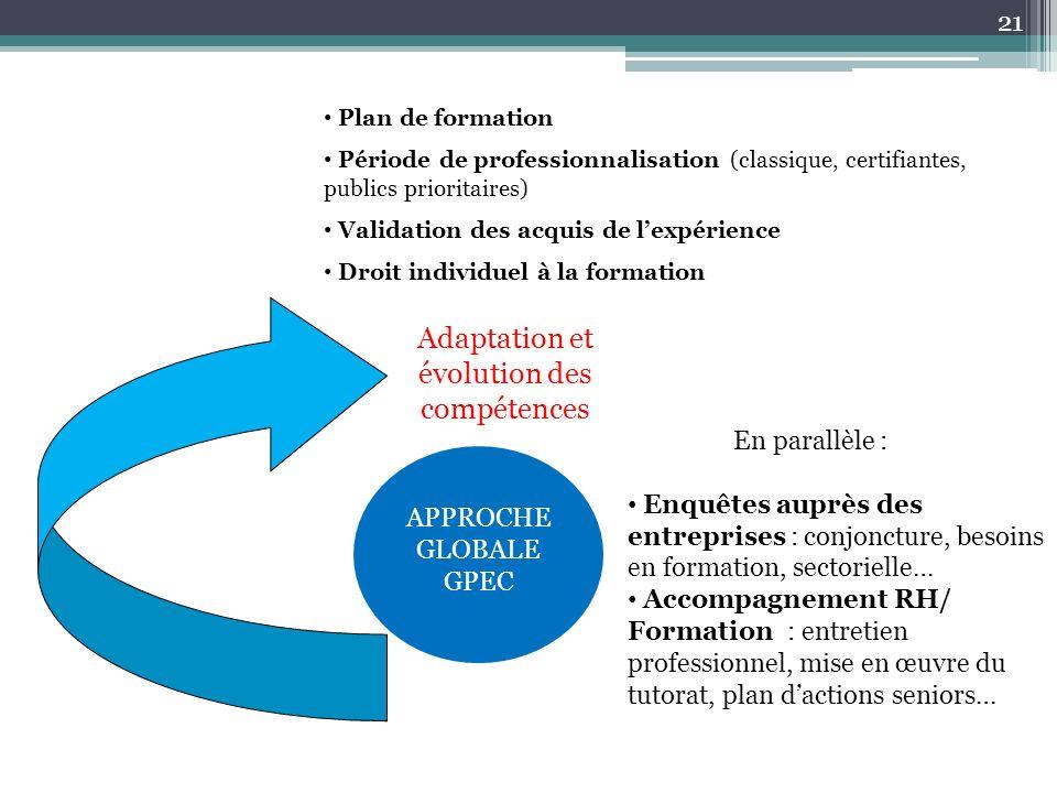 Adaptation et évolution des compétences