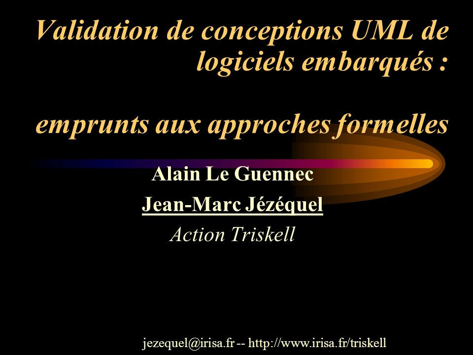 Alain Le Guennec Jean-Marc Jézéquel Action Triskell