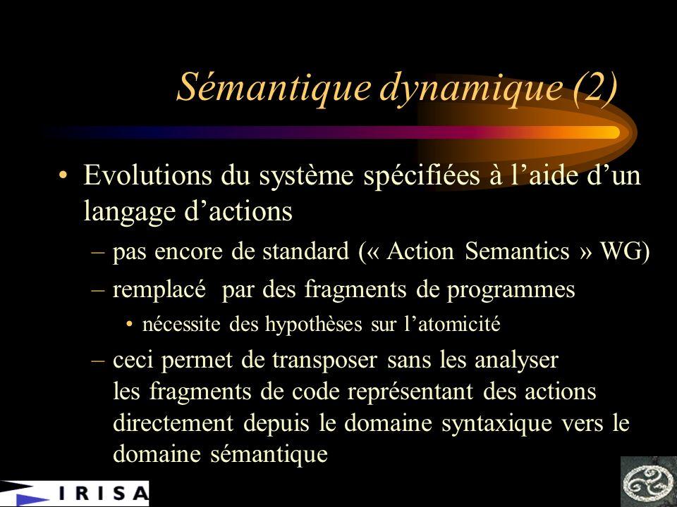 Sémantique dynamique (2)