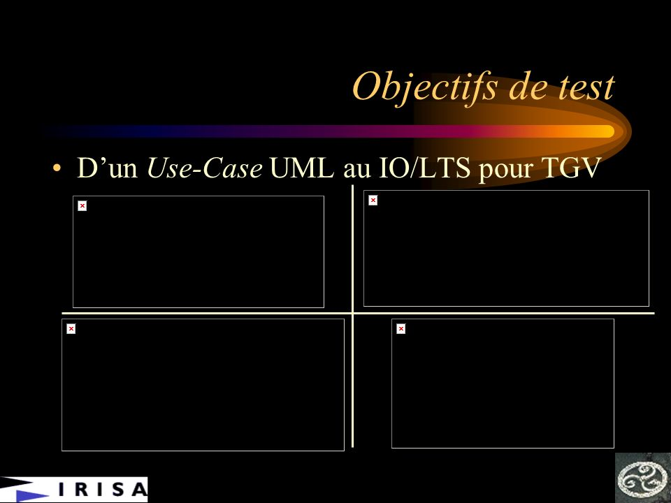 Objectifs de test D'un Use-Case UML au IO/LTS pour TGV