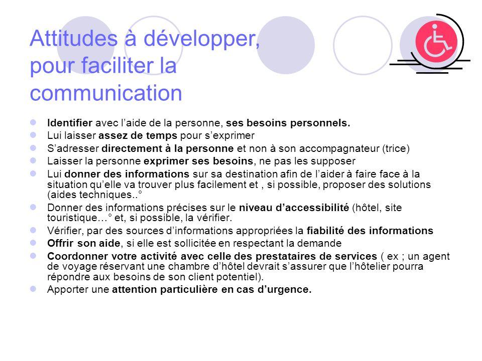 Attitudes à développer, pour faciliter la communication