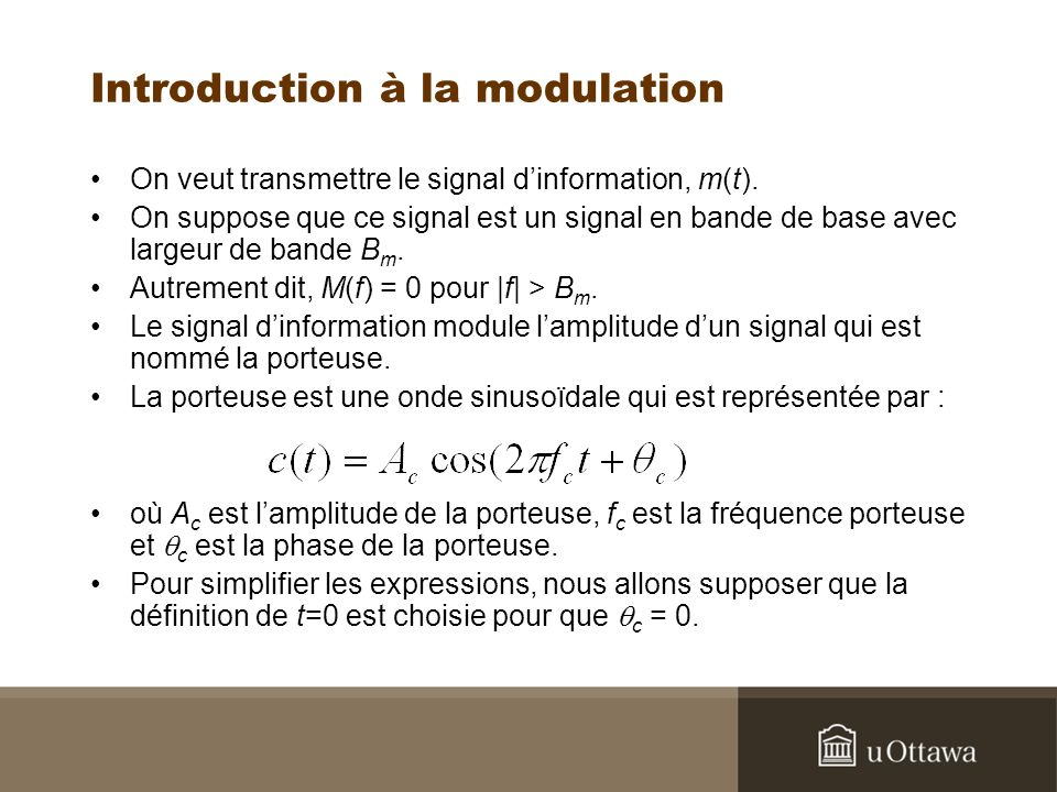 Introduction à la modulation
