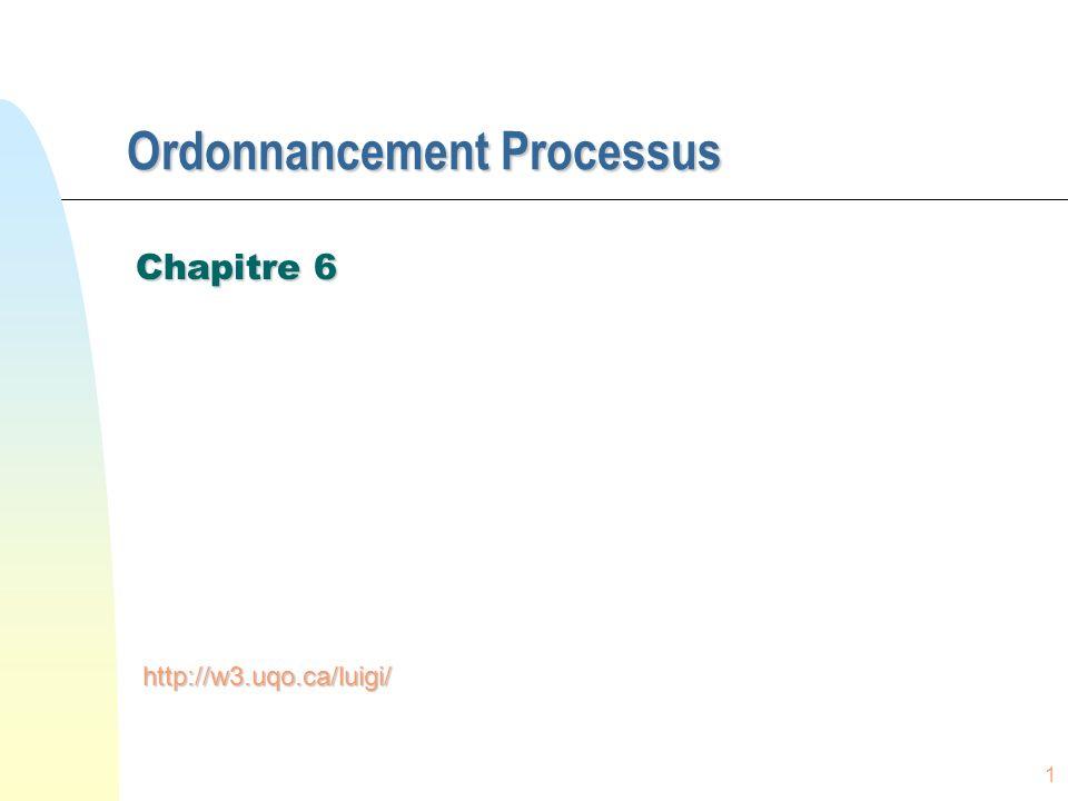 Ordonnancement Processus