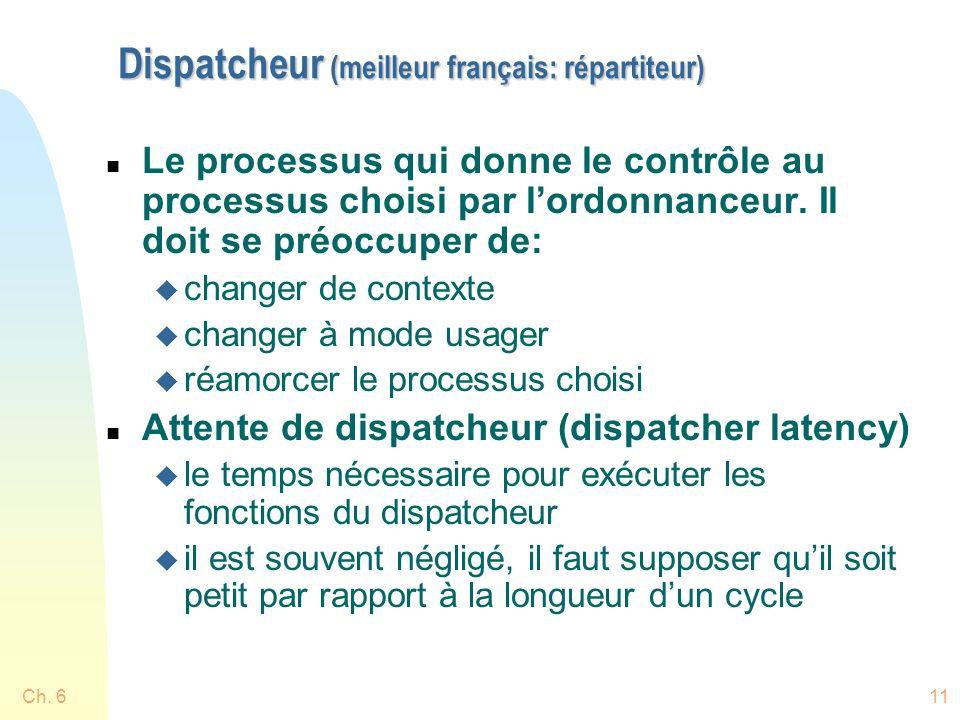Dispatcheur (meilleur français: répartiteur)