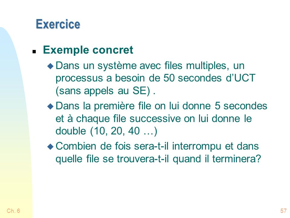 Exercice Exemple concret