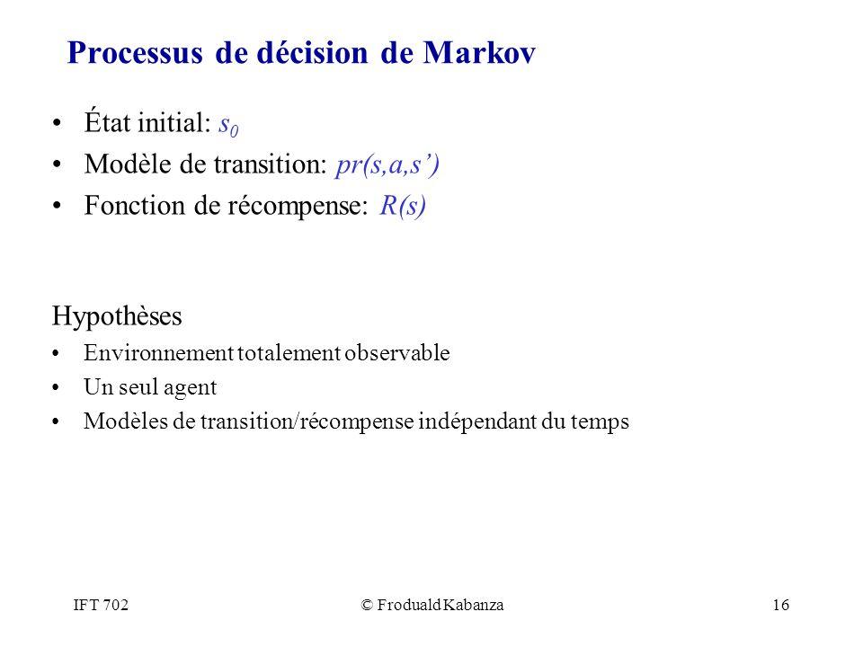 Processus de décision de Markov