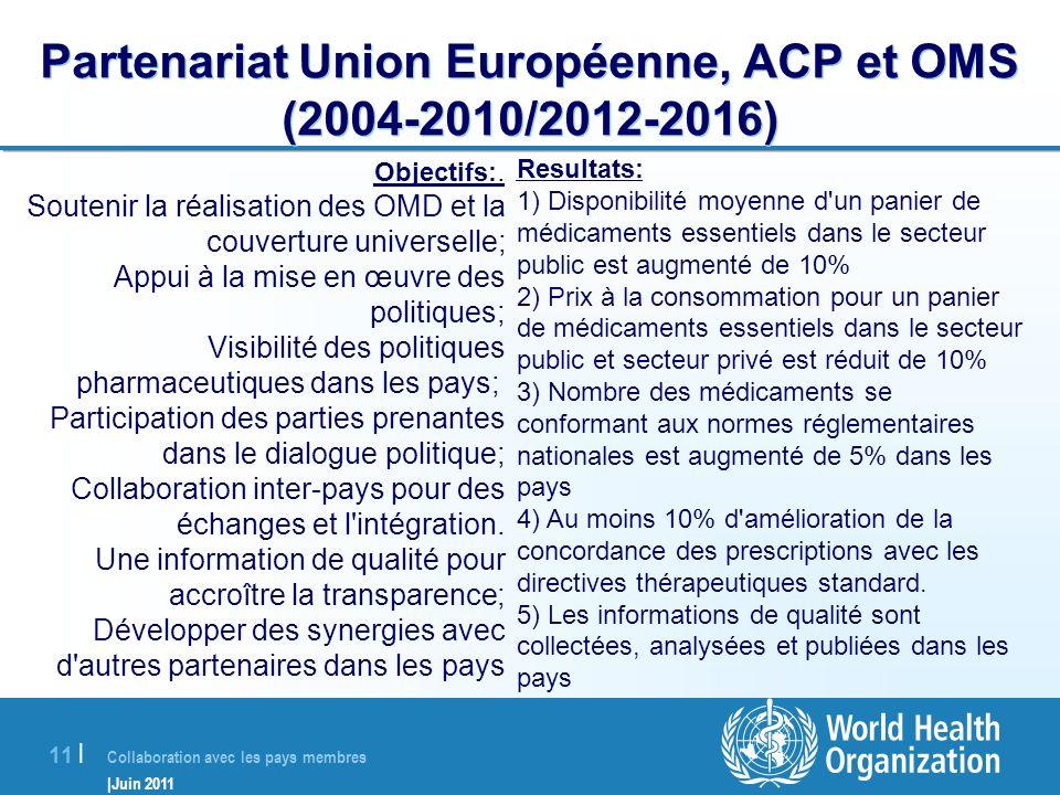 Partenariat Union Européenne, ACP et OMS (2004-2010/2012-2016)
