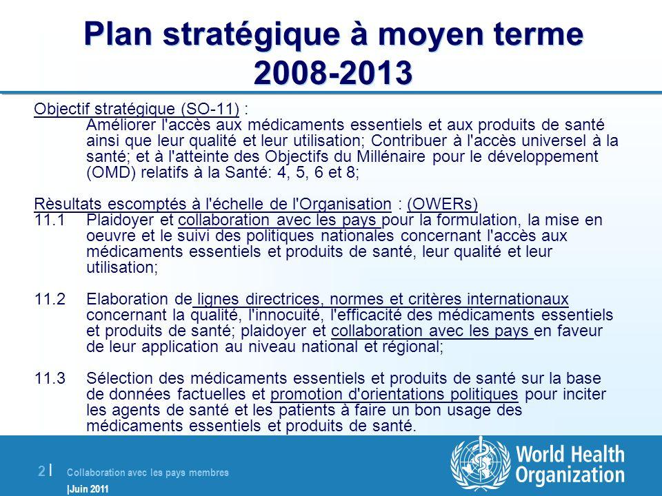Plan stratégique à moyen terme 2008-2013