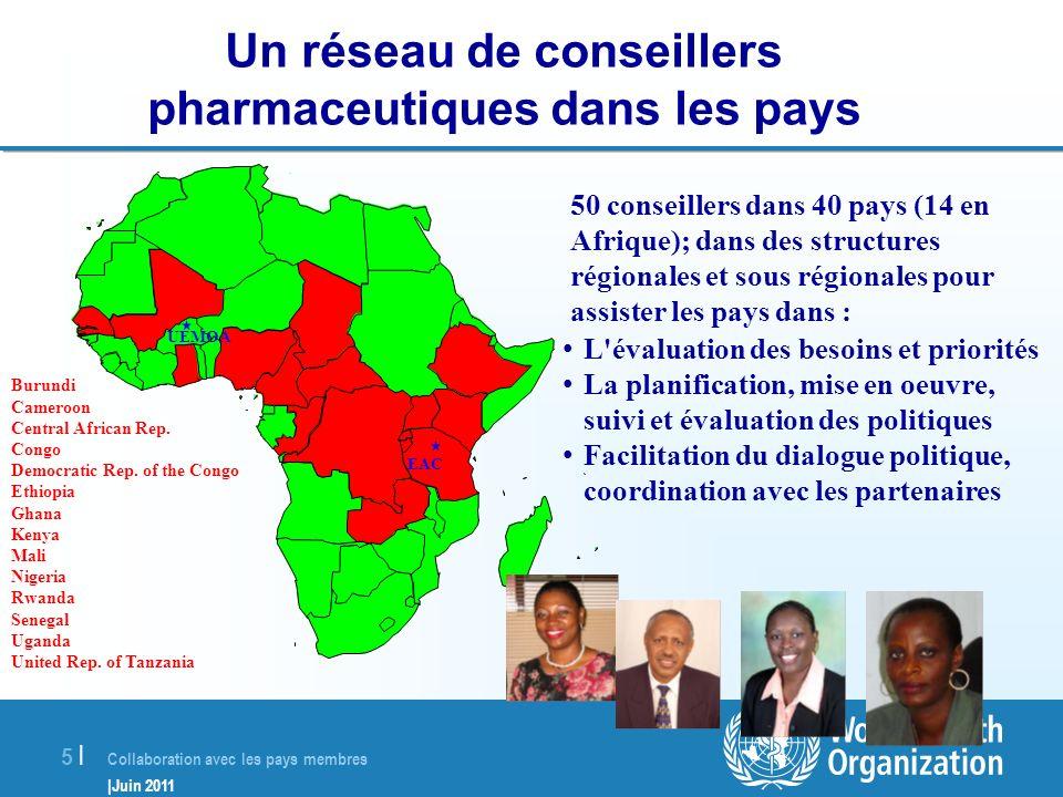 Un réseau de conseillers pharmaceutiques dans les pays
