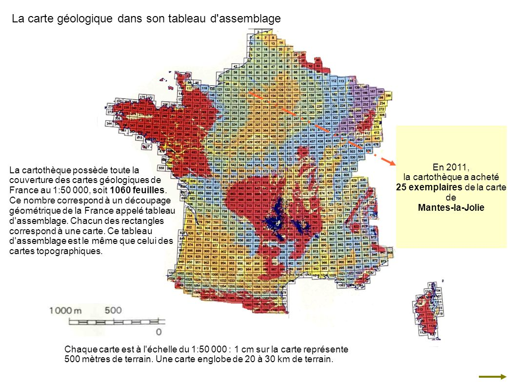 La carte géologique dans son tableau d assemblage