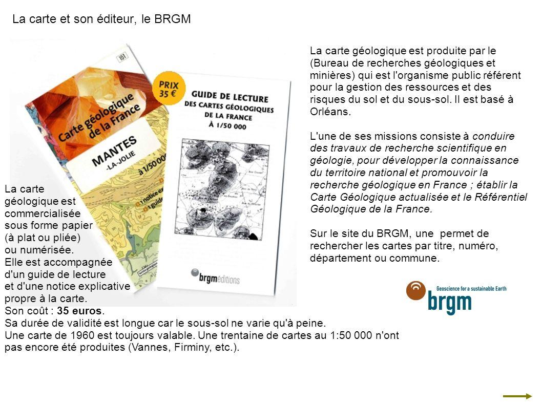 La carte et son éditeur, le BRGM