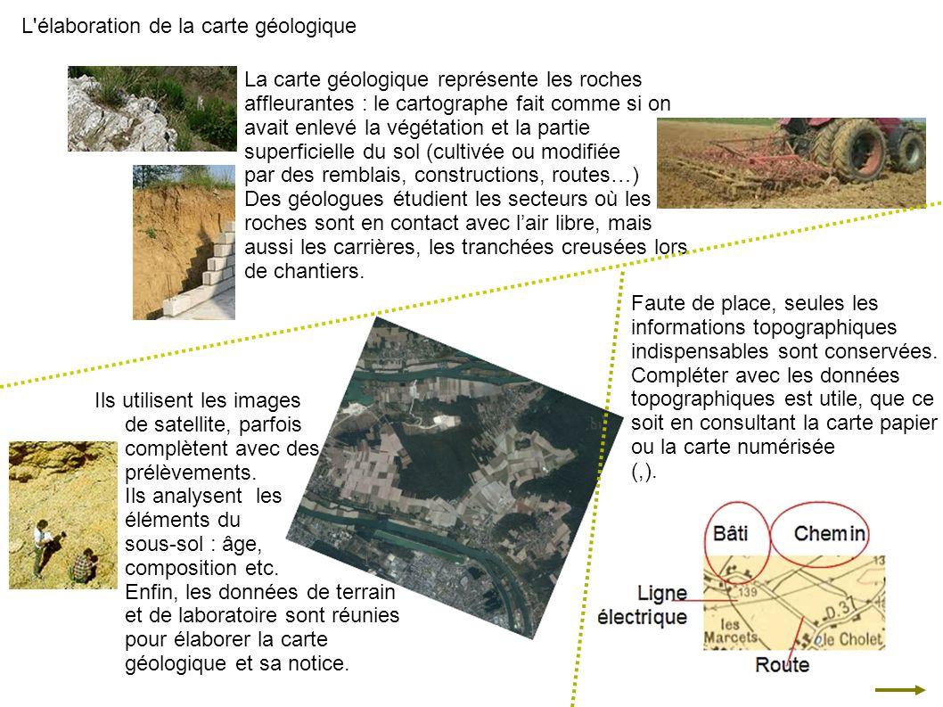 L élaboration de la carte géologique